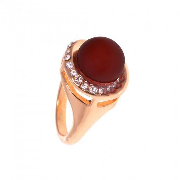 Gyöngyszem gyűrű strasszal