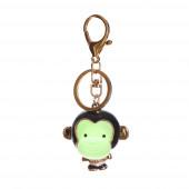 Majmos táskadísz/ kulcstartó, zöld