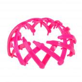 Műanyag rugalmas copf-fogó, pink