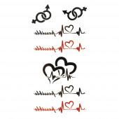 Szív a szívben tetoválás