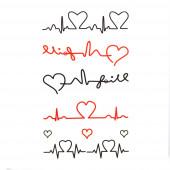 Szívdobbanás tetoválás