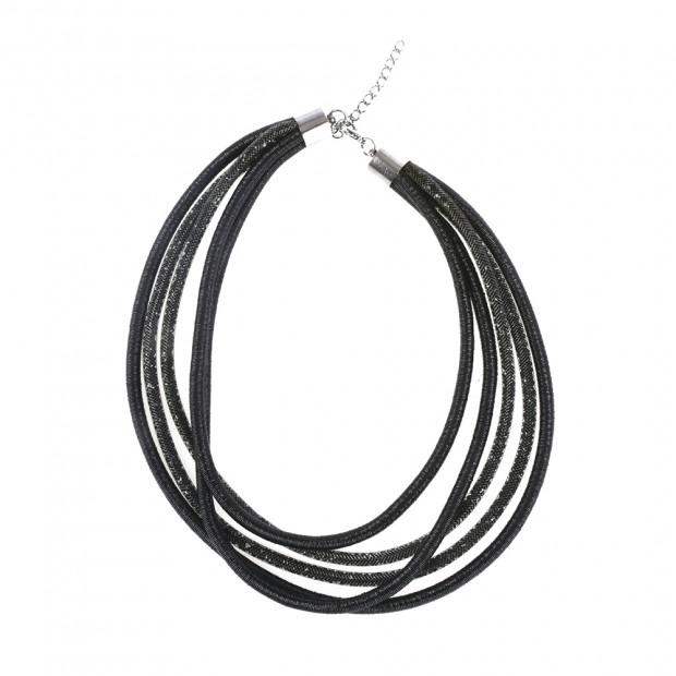 Fénylő csillogás nyaklánc, fekete
