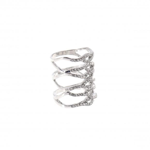 Strassz sávok gyűrű