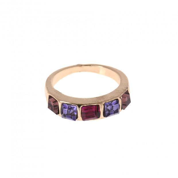 Lila köves gyűrű, 17 mm