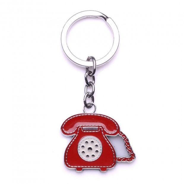 Csörr telefon kulcstartó