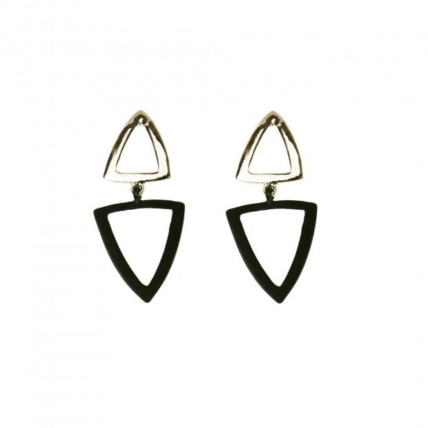 Triangol duo fülbevaló