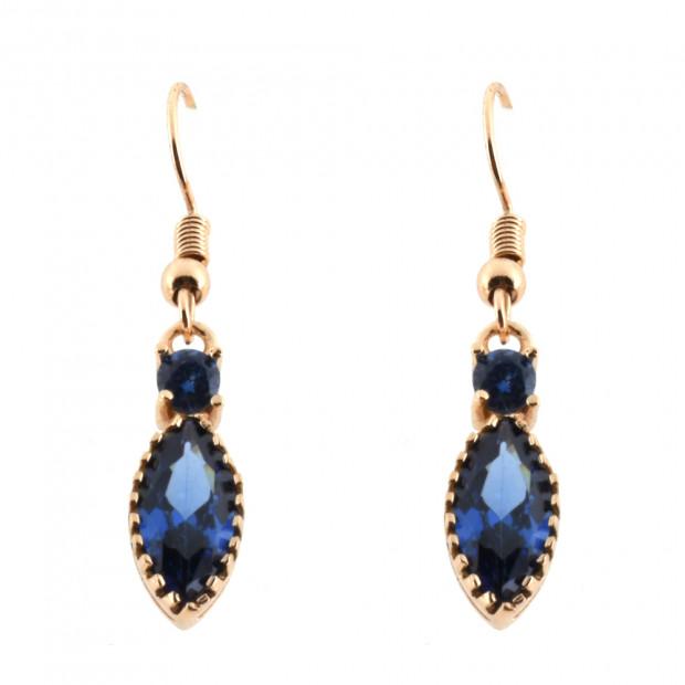 Amaretto fülbevaló, kék