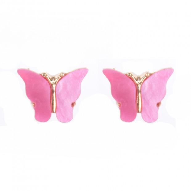 Mariposa fülbevaló, pink