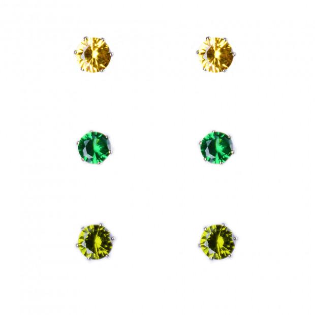 Green csill trió fülbevaló szett