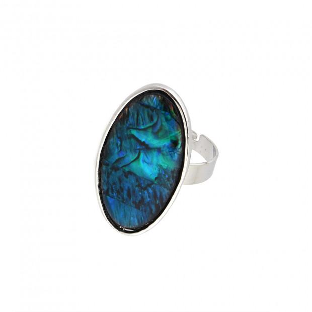 Blue opál ovál gyűrű