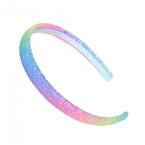 Csillám hajráf, színes-szivárványos
