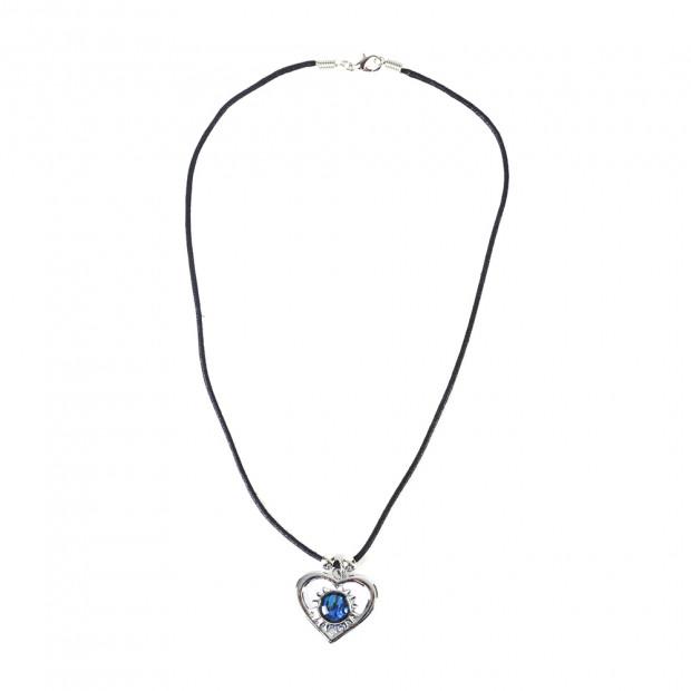Heart opál kő medálos nyaklánc