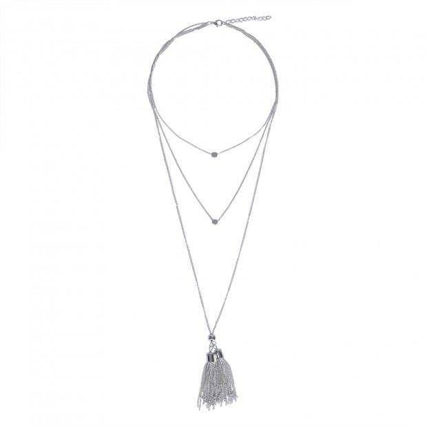 Pompon nyaklánc, ezüst