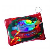 Télapó fagyönggyel pénztárca/kulcstartó