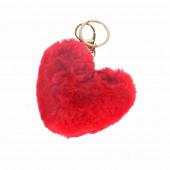 Szőrmók szív kulcstartó