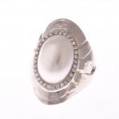 Gyöngy és strasszok gyűrű, 19 mm