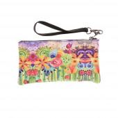 Színes virágmező kozmetikai táska