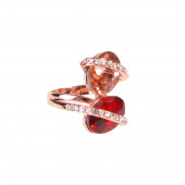 Nebré gyűrű, piros, 19 mm
