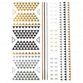 Háromszögek arany tetoválás