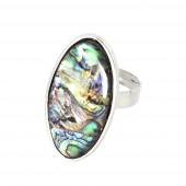 Opál puha mandula gyűrű