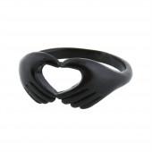 Hands gyűrű, fekete