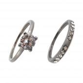 Princess duó gyűrű, hematit