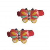 Szív pillangó hajgumi, piros
