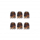 Mini 6 hajcsipesz szett, foltos-fényes