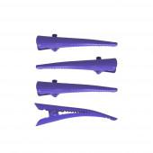 Mini 4 csőrös hajcsipesz szett, lila
