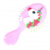 Happy unicorn gyerek hajkefe, rózsaszín