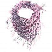 Vadmacska kendő, rózsaszín