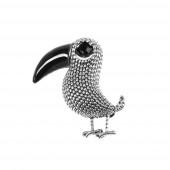 Birdy kitűző, ezüst