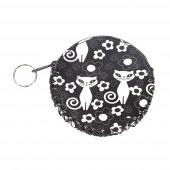 Black cat pénztárca/kulcstartó