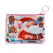 Télapó ajándékokkal pénztárca/kulcstartó