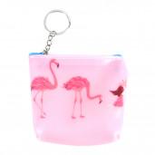 Plasty flamingó pénztárca/kulcstartó