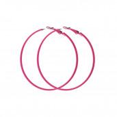 Szederke karika fülbevaló, pink