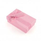 Növénymintás kis díszdoboz, rózsaszín