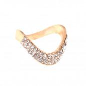 Hullám gyűrű, arany, 17 mm