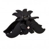 Fekete virágos hajcsipesz