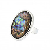 Opál ovál gyűrű