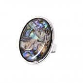 Nagy opál ovál gyűrű