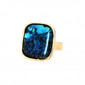 Blue opál négyzet gyűrű