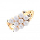 Gyöngycsokor gyűrű, arany, 19 mm