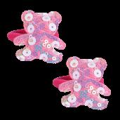 Flitter maci hajgumi,pink
