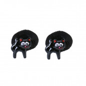 Fekete cica hajgumi pár, fekete