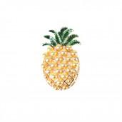 Gyöngyös ananász kitűző