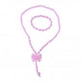 Masnis gyereknyaklánc szett, rózsaszín