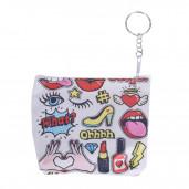 Cartoon pénztárca/kulcstartó
