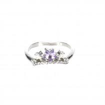 Lila korona gyűrű 18 mm